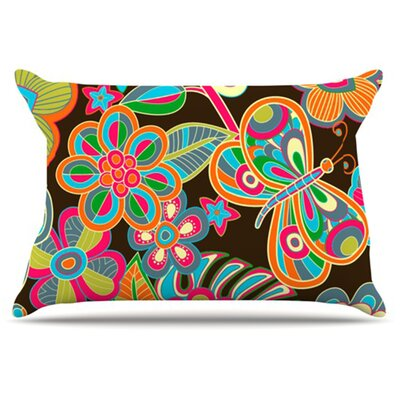 My Butterflies and Flowers Fleece Pillow Case Size: Standard