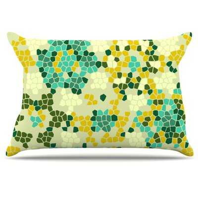 Flower Garden Mosaic Pillowcase Size: King