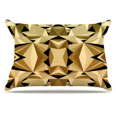 Abstraction Pillowcase Size: King, Color: Gold and Black