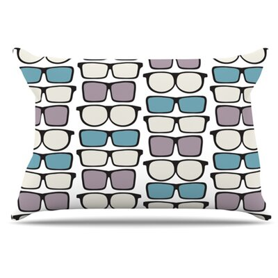 Spectacles Geek Chic Pillowcase Size: King