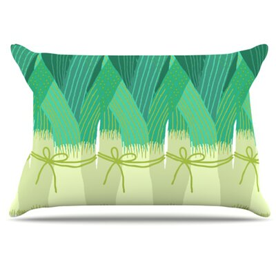 Leeks Pillowcase Size: King