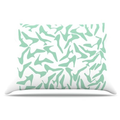 Shoe Pillowcase Size: King, Color: Mint