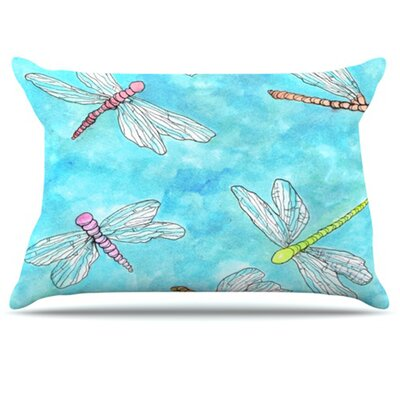 Dragonfly Pillowcase Size: Standard