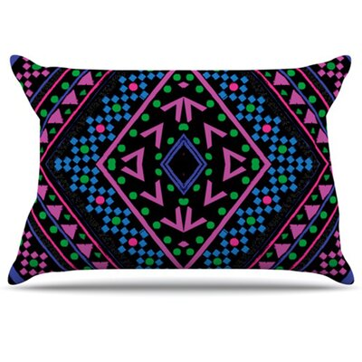 Neon Pattern Pillowcase Size: King