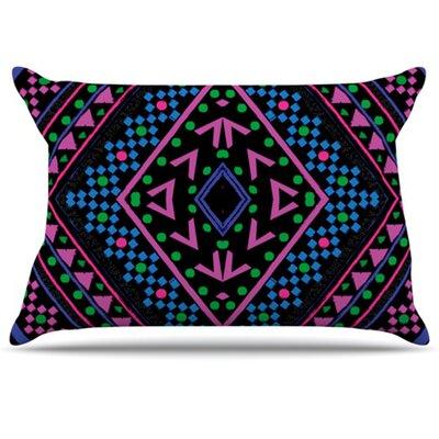 Neon Pattern Pillowcase Size: King