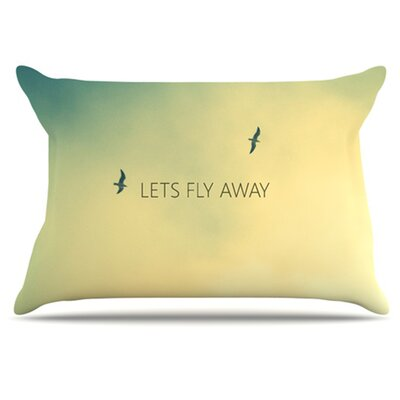 Lets Fly Away Pillowcase Size: Standard