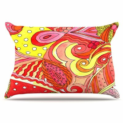 Swirls Pillowcase Size: King