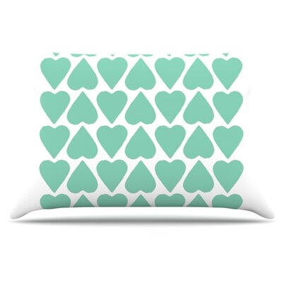 Up and Down Hearts Pillowcase Size: King
