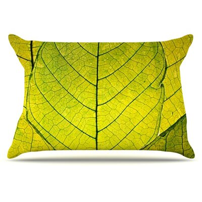 Every Leaf a Flower Pillowcase Size: King