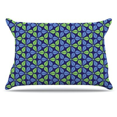 Infinite Flowers Pillowcase Size: Standard, Color: Blue