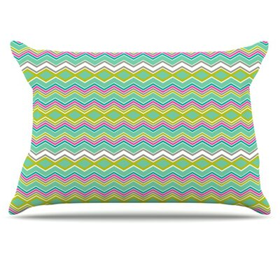 Chevron Love Pillowcase Size: King
