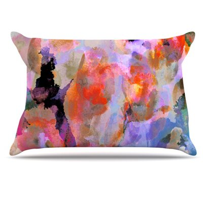 Painterly Blush Pillowcase Size: Standard