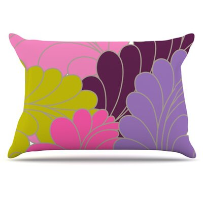 Moroccan Leaves Pillowcase Size: Standard