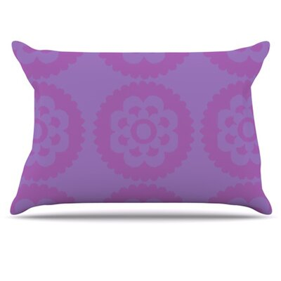 Moroccan Pillowcase Color: Lilac, Size: King