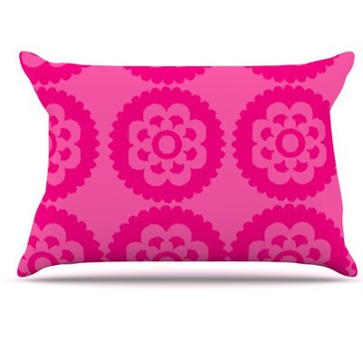 Moroccan Pillowcase Size: Standard, Color: Hot Pink