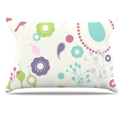 Bird Song Pillowcase Size: Standard