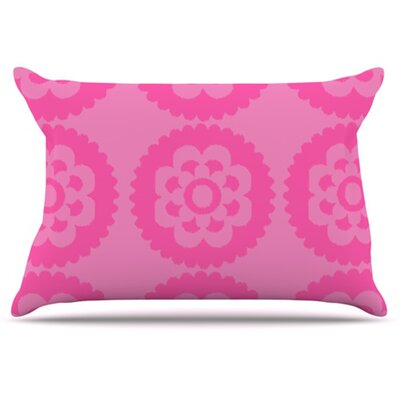 Moroccan Pillowcase Size: King, Color: Pink