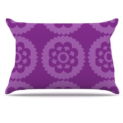 Moroccan Pillowcase Size: King, Color: Purple