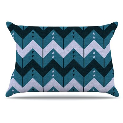 Chevron Dance Pillowcase Size: King, Color: Blue