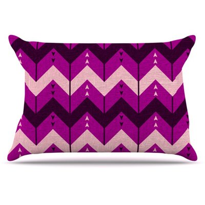 Chevron Dance Pillowcase Size: Standard, Color: Purple