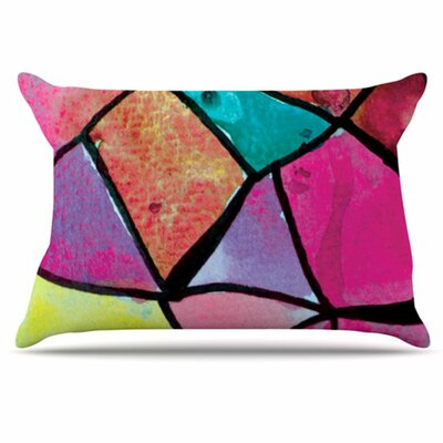 Stain Glass 3 Pillowcase Size: Standard