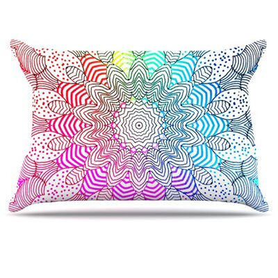 Rainbow Dots Pillowcase Size: Standard