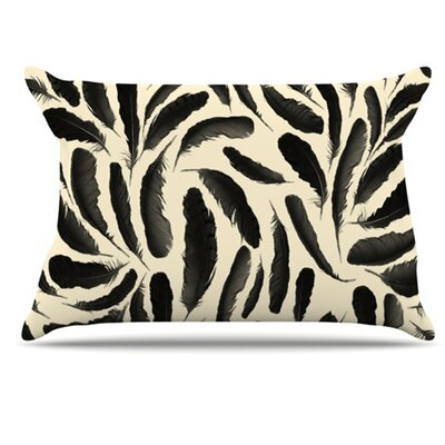 Feather Pattern Pillowcase Size: King