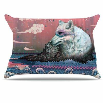 Lone Wolf Pillowcase Size: Standard