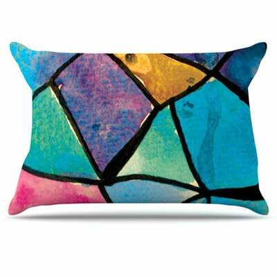 Stain Glass 2 Pillowcase Size: Standard