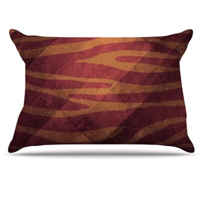Zebra Texture Pillowcase Color: Pink, Size: King