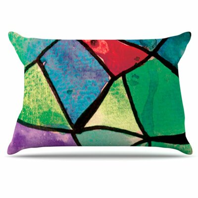 Stain Glass 1 Pillowcase Size: King