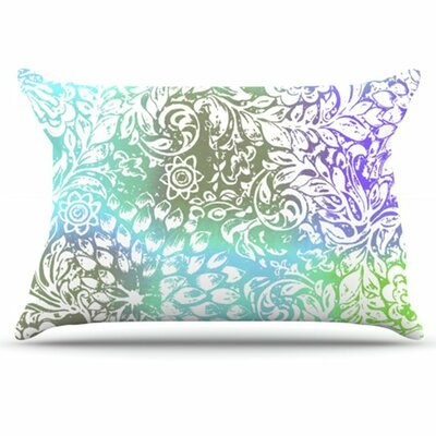 Blue Bloom Softly for You Pillowcase Size: King