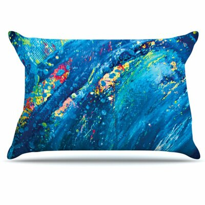 Big Wave Pillowcase Size: Standard