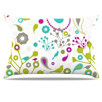 Bird Fantasy Pillowcase Size: Standard