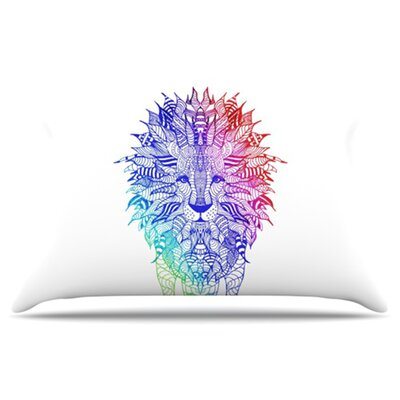 Rainbow Lion Pillowcase Size: Standard