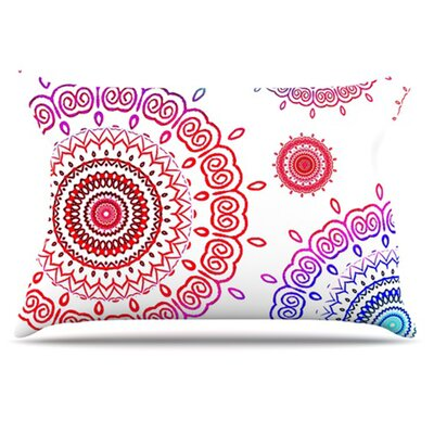 Rainbow Infinity Pillowcase Size: King
