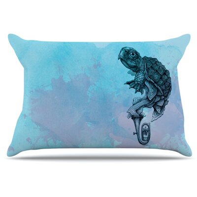 Turtle Tuba II Pillowcase Size: King