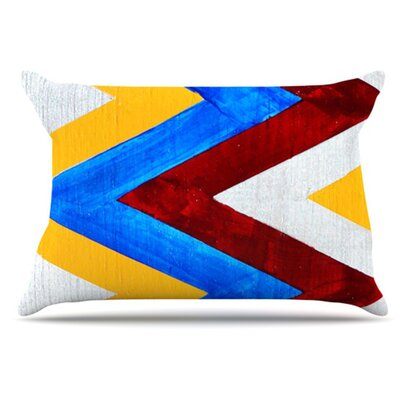 Zig Zag Pillowcase Size: Standard