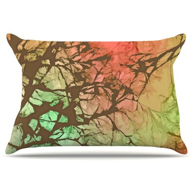 Skies Pillowcase Size: Standard, Color: Fire