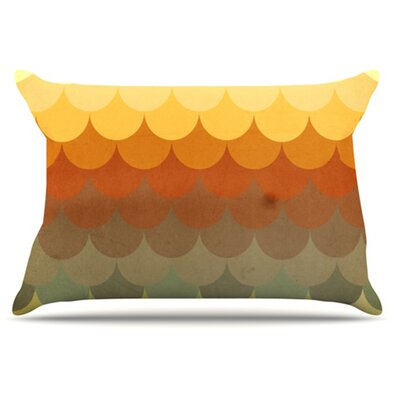 Half Circles Waves Pillowcase Size: Standard
