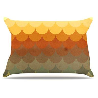 Half Circles Waves Pillowcase Size: King
