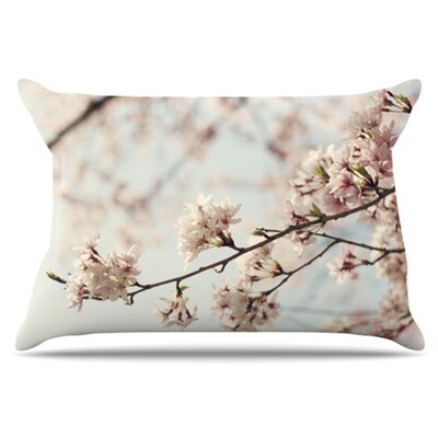 Japanese Blossom Pillowcase Size: King