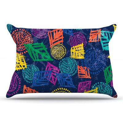 African Beat Pillowcase Size: Standard, Color: Blue