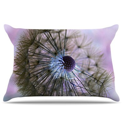 Dandelion Clock Pillowcase Size: King