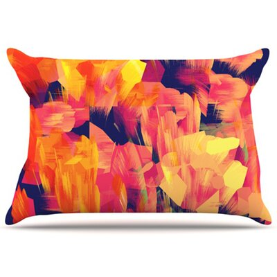 Geo Flower Pillowcase Size: King