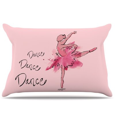 Ballerina Pillowcase Size: Standard