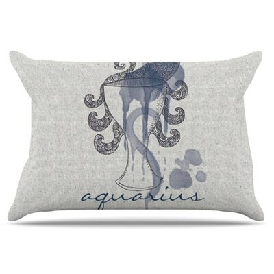 Aquarius Pillowcase Size: King