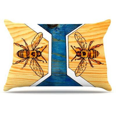 Bees Pillowcase Size: King