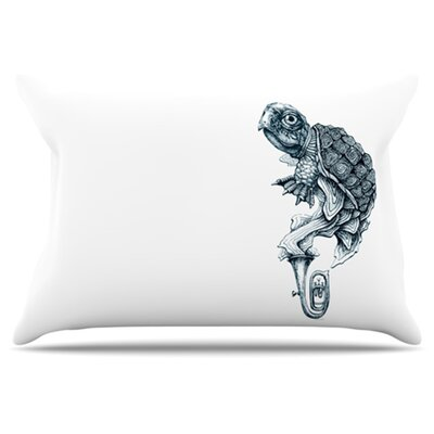 Turtle Tuba Pillowcase Size: Standard