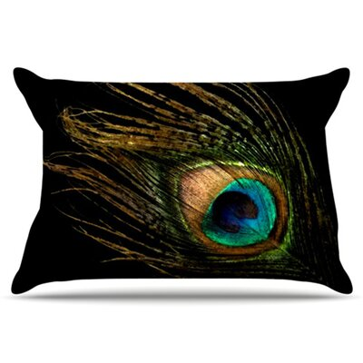 Peacock Pillowcase Size: Standard